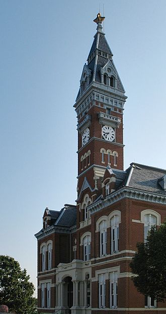 Nodaway County, Missouri - Image: Nodaway courthouse retouched