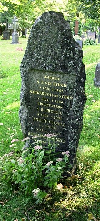 Hjalmar Frisell - Hjalmar Frisell's grave at Norra begravningsplatsen in Solna.