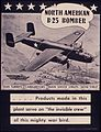 """North America B-25 Bomber. ... Products made in this plant serve on """"the invisible crew"""" of this mighty war bird. - NARA - 534802.jpg"""