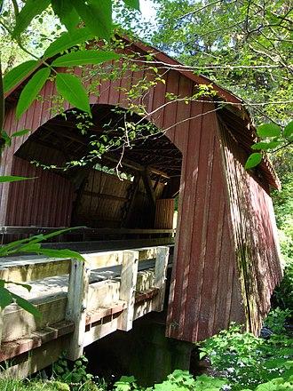 Yachats, Oregon - North Fork Yachats Covered Bridge