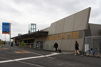 North Melbourne railway station - Station front in November 2009