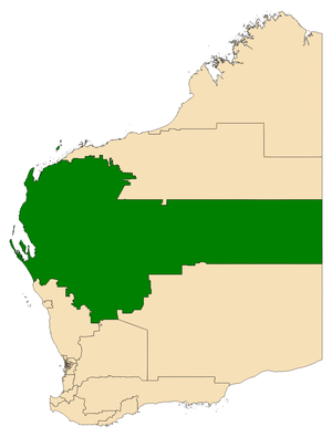 Electoral district of North West Central - Location of North West Central (dark green) in Western Australia