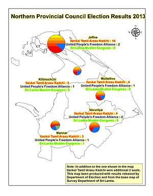 Sri Lankan provincial council elections, 2013 - Northern Provincial Election Results 2013