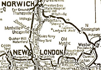 Norwich and Westerly Railway - Image: Norwich and Worcester map