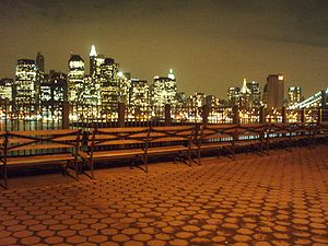 Brooklyn Heights Promenade - The view from the Promenade at night