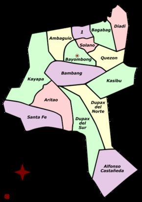 Political divisions of Nueva Vizcaya