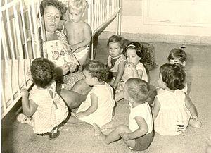 Afikim - Kibbutz children in the children's house, 1960s