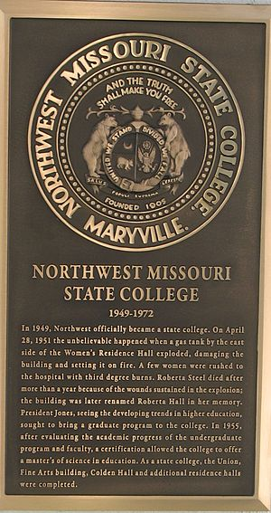 Northwest Missouri State University - History of NWMSU College, Bell Tower exhibit