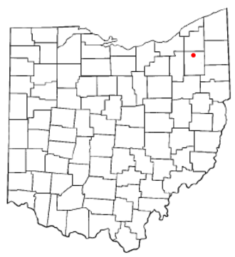 Mantua, Ohio - Image: OH Map doton Mantua