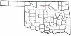 Location of Hunter, Oklahoma
