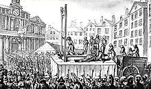Laguillotina, que fue el instrumento de ejecución de entre 35000 a 40000 personas durante la época del terror.