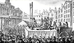 Reign of Terror - Nine emigrés are executed by guillotine, 1793