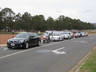 Motorcade - Image: Official convoy Op Catalyst Welcome Home Parade