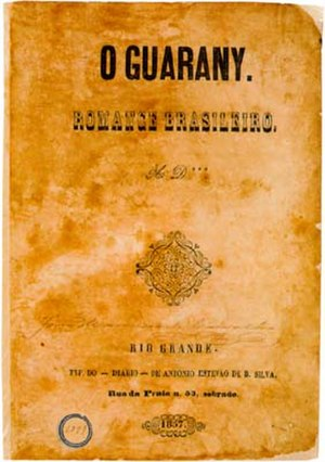 The Guarani - Cover of the first edition, financed by Alencar himself