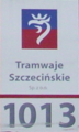 Old sign of Szczecin tram (2).png