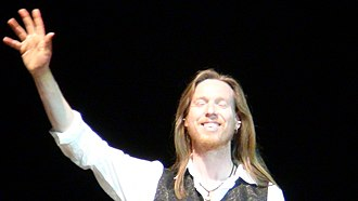 Oliver Wakeman - Wakeman after a show with Yes in Brazil, November 2010.
