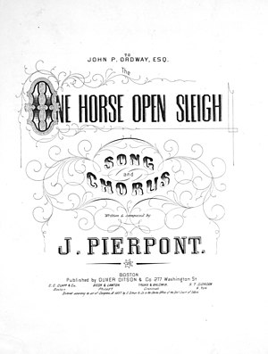 Jingle Bells - Image: One Horse Open Sleigh title page
