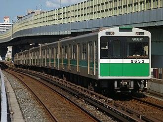 Chūō Line (Osaka) - A Chūō Line 20 series EMU in August 2012