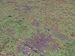 De drie grote steden in Twente: Enschede, Hengelo en Almelo