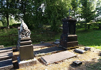Otto von Kotzebue - Kotzebue's tomb in Kose churchyard