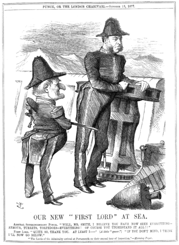 "John Tenniel's ""Our New 'First Lord' at S..."