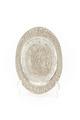 Ovalt fat av silver med framställning av ryttare och hornblåsare i drivet arbete - Skoklosters slott - 91931.tif