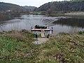 Přívoz Podbaba - Podhoří, od Podhoří, přistávající Skokan.jpg