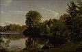 P.C. Skovgaard - Aften ved Bondedammen i Hellebæk - KMS1082 - Statens Museum for Kunst.jpg
