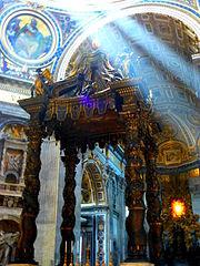 P1010216Centre de La Basilique St Pierre (Vatican).JPG