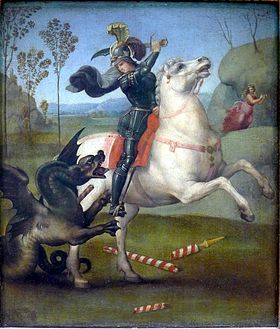 Image illustrative de l'article Saint Georges et le Dragon (Raphaël, musée du Louvre)