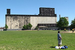 Red Hook Grain Terminal - A view of the grain terminal from the Red Hook Recreation Area at Columbia St
