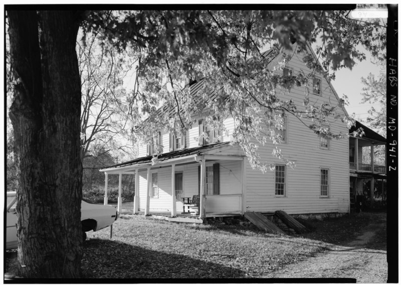 File:PERSPECTIVE VIEW SOUTH (FRONT) AND EAST SIDE - Newcomer Farm, House, Boonsboro Pike near Middle Bridge, Sharpsburg, Washington County, MD HABS MD,22-SHARP.V,32-2.tif