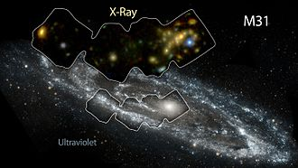 X-ray astronomy - Andromeda Galaxy – in high-energy X-ray and ultraviolet light (released 5 January 2016).