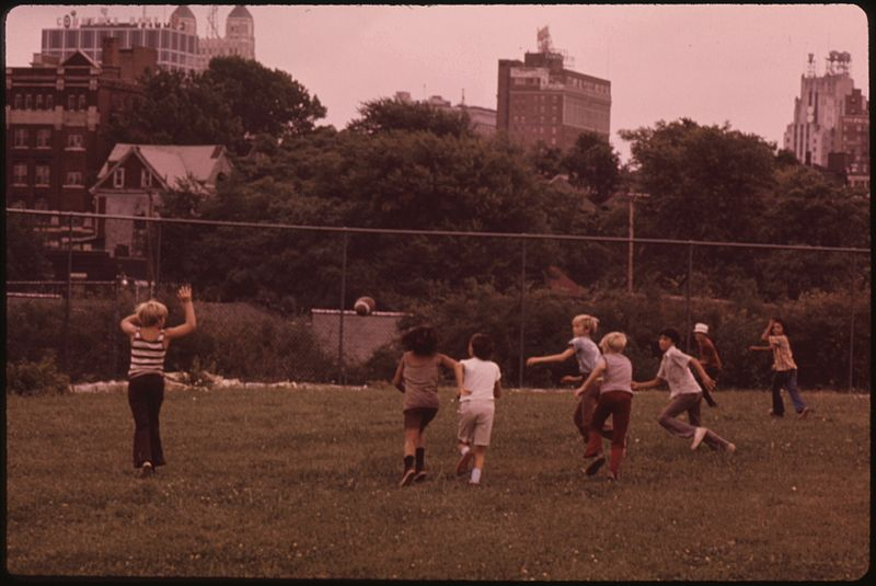 File:PLAYING FOOTBALL AT MULKY SQUARE PARK, A CITY FACILITY - NARA - 553512.jpg