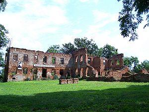 Łubowice, Silesian Voivodeship - Ruins of Łubowice Palace