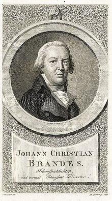 Johann Christian Brandes, Kupferstich von Medardus Thoenert (1799) (Quelle: Wikimedia)