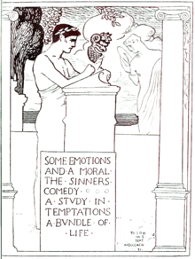 Frontispiece to The Tales of John Oliver Hobbes. Text: Some Emotions and a Moral•The Sinners Comedy•A Stvdy in Temptations•A Bvndle of Life. To IOH WS Sept MDCCCXCN