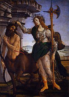 Pallade che doma il centauro - Sandro Botticelli (1482-1484)
