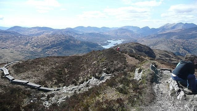 Panorama from Torc Mountain (7) - geograph.org.uk - 777047