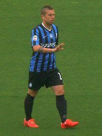 Gomez con la maglia dell'Atalanta nel 2015.