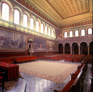 University of Barcelona - Main hall of the Historic building