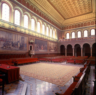 University of Barcelona - Main hall of the Historic building, built in 1884.
