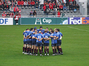 Border Reivers (rugby union) - Border Reivers preparing for a Heineken Cup match against Biarritz in 2006.