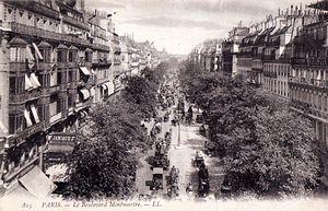 Boulevard Montmartre - Boulevard Montmartre, 1906.