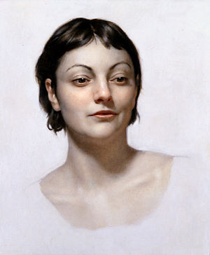 "Graydon Parrish - Female Head Study, by Graydon Parrish. 15""x18"", oil on panel"