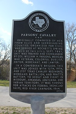 Parsons cavalry c.s.a., waxahachie, texas historical marker (7022432191)
