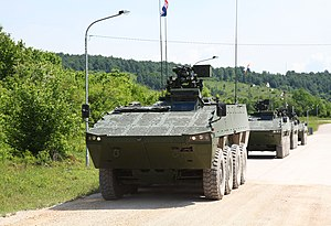 Croatian Army - Patria AMV ready for patrol.