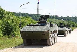 Croatian Army - Patria AMV ready for patrol.
