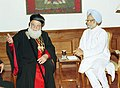 Patriarch of Antioch and all the East, H.H. Ignatius Zakka-I, calls on the Prime Minister Dr. Manmohan Singh, in New Delhi on September 30, 2004.jpg