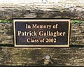 Patrick Gallagher Bench, American University.jpg